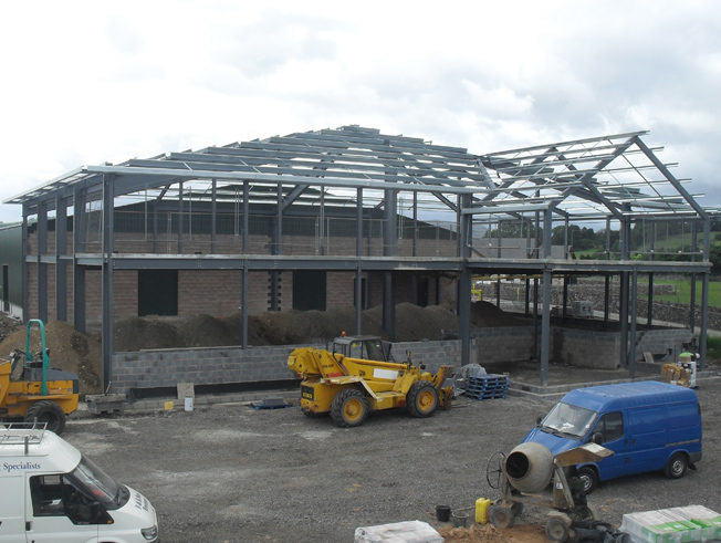 industrial steel building fabrication